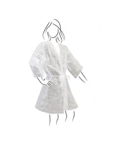 Kimono Monouso Bianco Confezione 10 Pezzi