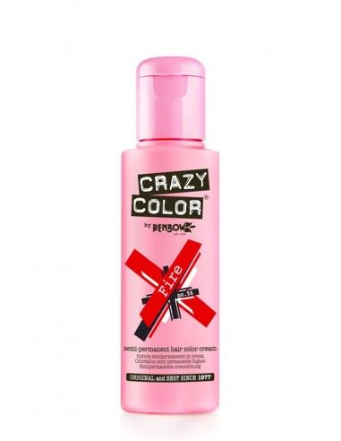 Crazy Color Rosso 100 ml - Colore Semipermanente Fire
