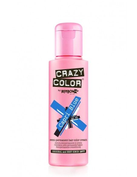 Crazy Color Blu 100 ml - Colore Semipermanente Blu Capri