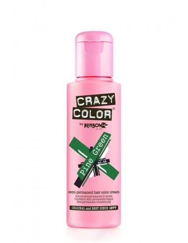 Crazy Color Verde 100 ml - Colore Semipermanente Pine Green