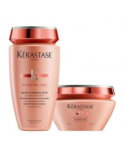 Kerastase Discipline Duo Rituel Shampoo Fluidealiste Gentle e Maskeratine